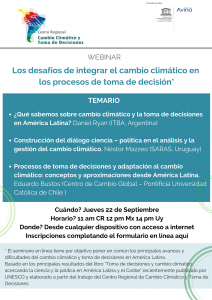 Los desafíos de integrar el cambio climático en los procesos de toma de decisión