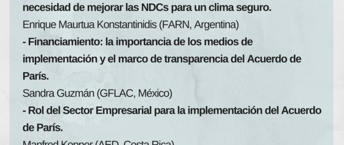 Webinar: ¿Qué esperar de la COP22?